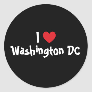 I Love Washington DC Classic Round Sticker