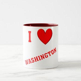 I Love Washington Coffee Mugs