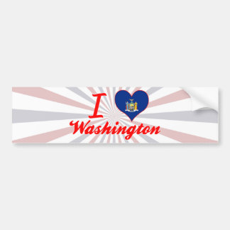 I Love Washington, New York Bumper Stickers