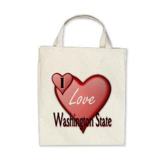 I Love Washington State Bags