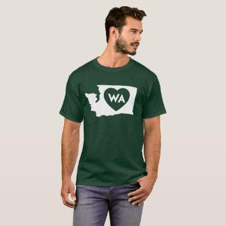 I Love Washington State Men's Basic Dark T-Shirt