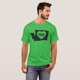 I Love Washington State Men's Dark T-Shirt