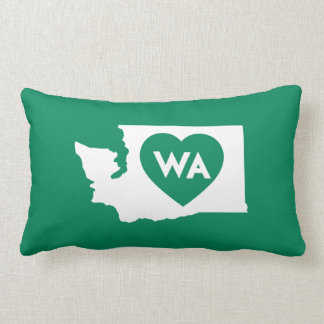 I Love Washington State Rectangular Throw Pillow