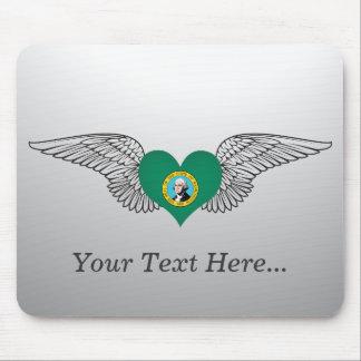 I Love Washington -wings Mouse Pads