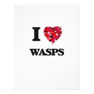 I love Wasps 21.5 Cm X 28 Cm Flyer