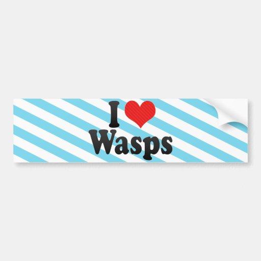 I Love Wasps Bumper Stickers