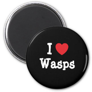 I love Wasps heart custom personalized 6 Cm Round Magnet