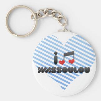 I Love Wassoulou Keychains