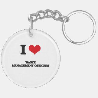 I love Waste Management Officers Acrylic Keychain