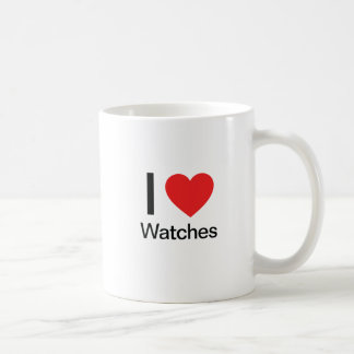I Love Watches Basic White Mug