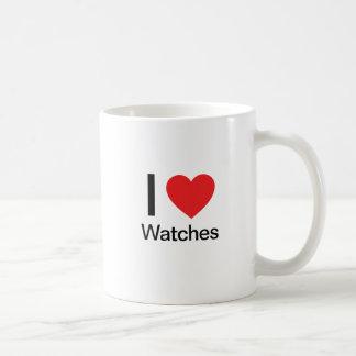 I Love Watches Coffee Mugs
