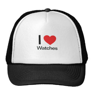 I Love Watches Mesh Hat