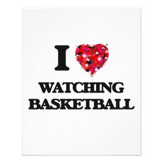 I love Watching Basketball 11.5 Cm X 14 Cm Flyer