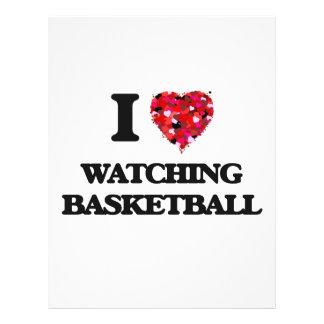 I love Watching Basketball 21.5 Cm X 28 Cm Flyer