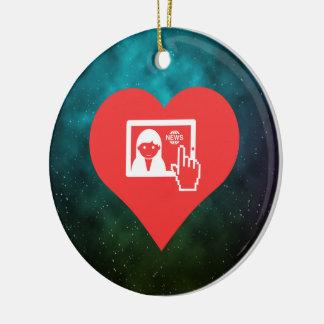 I Love Watching Tv News Modern Christmas Ornament