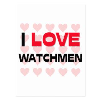 I LOVE WATCHMEN POSTCARD