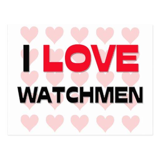 I LOVE WATCHMEN POSTCARDS