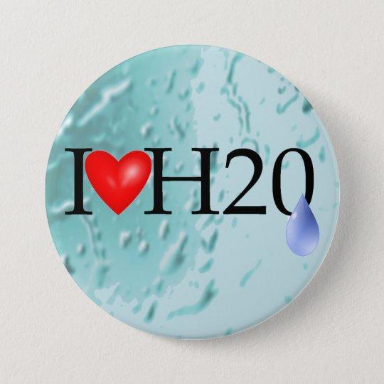 I Love Water 7.5 Cm Round Badge