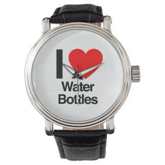 i love water bottles wristwatch