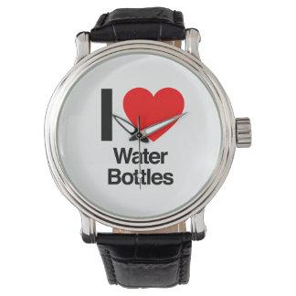 i love water bottles wristwatches