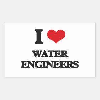 I love Water Engineers Sticker