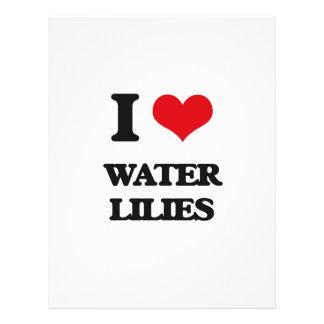 I love Water Lilies 21.5 Cm X 28 Cm Flyer