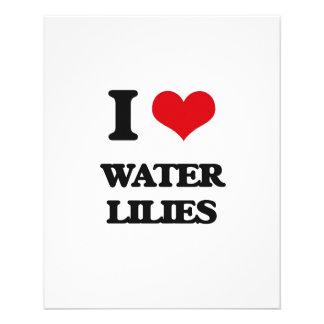 I love Water Lilies 11.5 Cm X 14 Cm Flyer