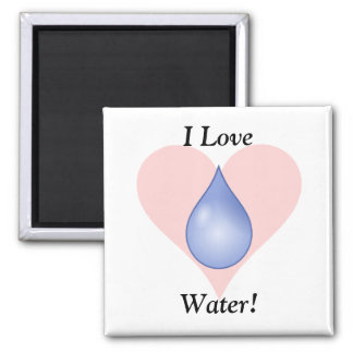 I Love Water! Refrigerator Magnets