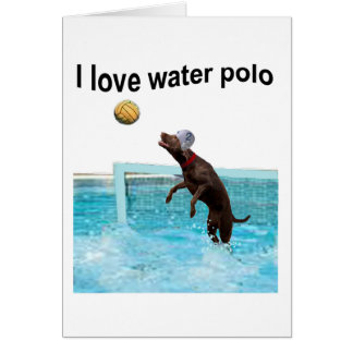 I love water polo card