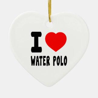 I Love Water Polo Christmas Ornament