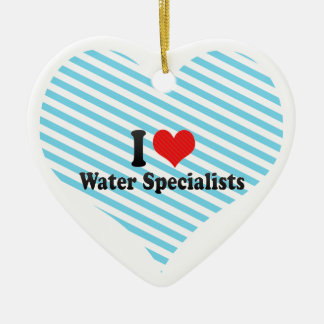 I Love Water Specialists Christmas Ornament
