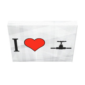 I Love Water Tap Stretched Canvas Print