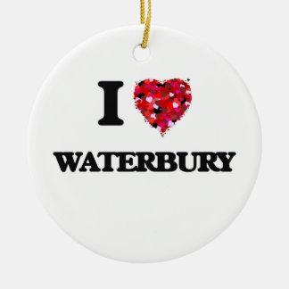 I love Waterbury Connecticut Christmas Ornament