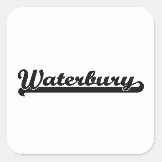 I love Waterbury Connecticut Classic Design Square Sticker
