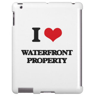 I love Waterfront Property iPad Case
