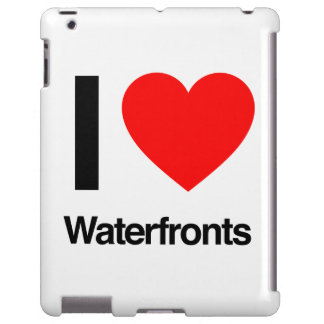i love waterfronts iPad case