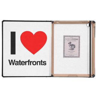 i love waterfronts iPad folio case