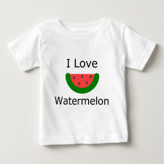 I Love Watermelon Baby T-Shirt