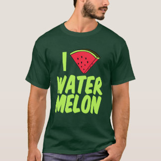 I Love Watermelon Cute Summer T-Shirt