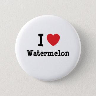 I love Watermelon heart T-Shirt 6 Cm Round Badge
