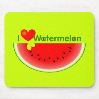 I Love Watermelon Mousepad
