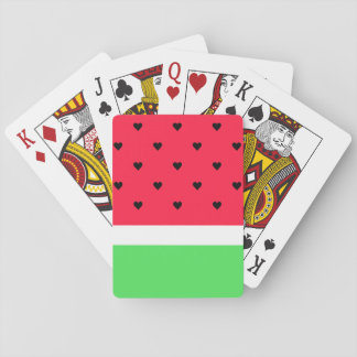 I Love Watermelon Playing Cards