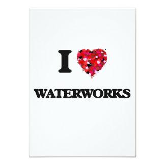 I love Waterworks 13 Cm X 18 Cm Invitation Card