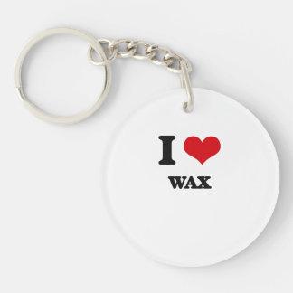 I love Wax Single-Sided Round Acrylic Key Ring