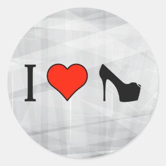 I Love Wearing Platform High Heels Round Sticker