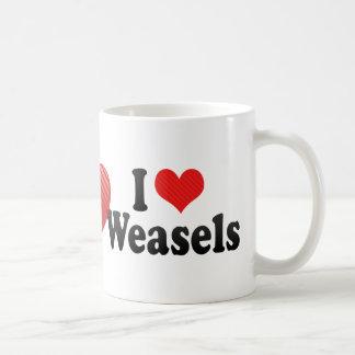 I Love Weasels Coffee Mug
