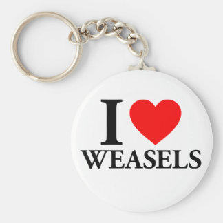 I Love Weasels Keychains