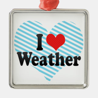 I Love Weather Christmas Ornament