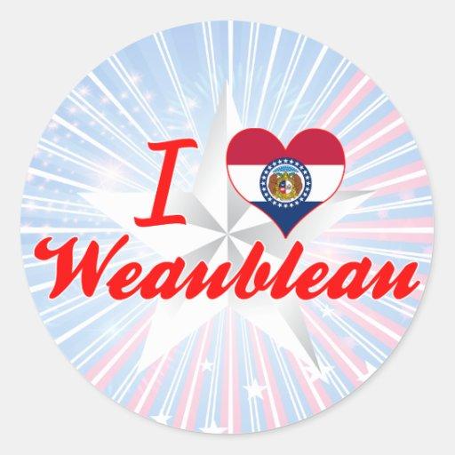 I Love Weaubleau, Missouri Stickers