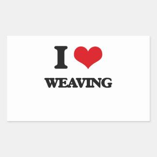 I Love Weaving Stickers